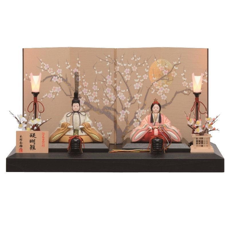 雛人形 一秀 江戸木目込み人形 親王 平飾り 幅60cm i-3-a101