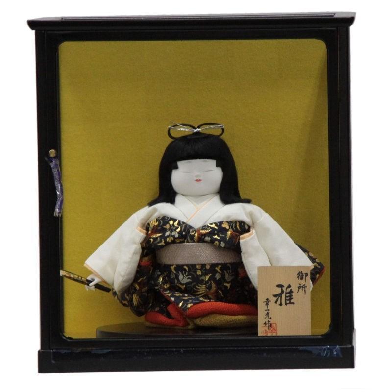 童人形 御所雅 扇子 ケース付きmk1022 幅22cm 3mk188 幸一光作
