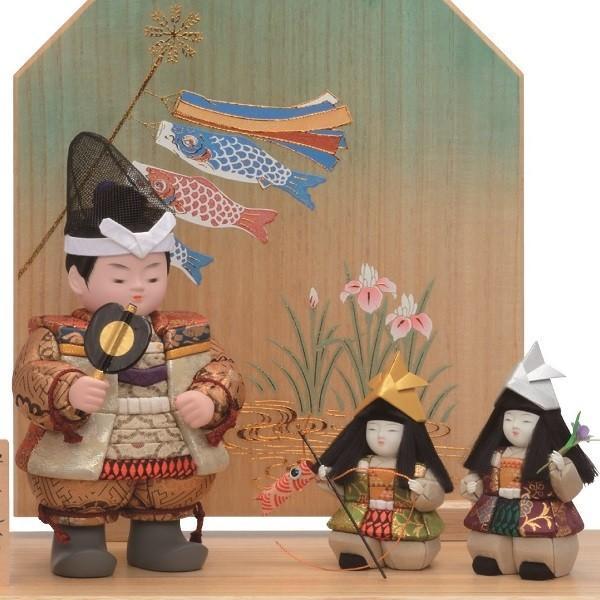 五月人形 一秀 木目込み 平飾り 幅54cm i-46-m10