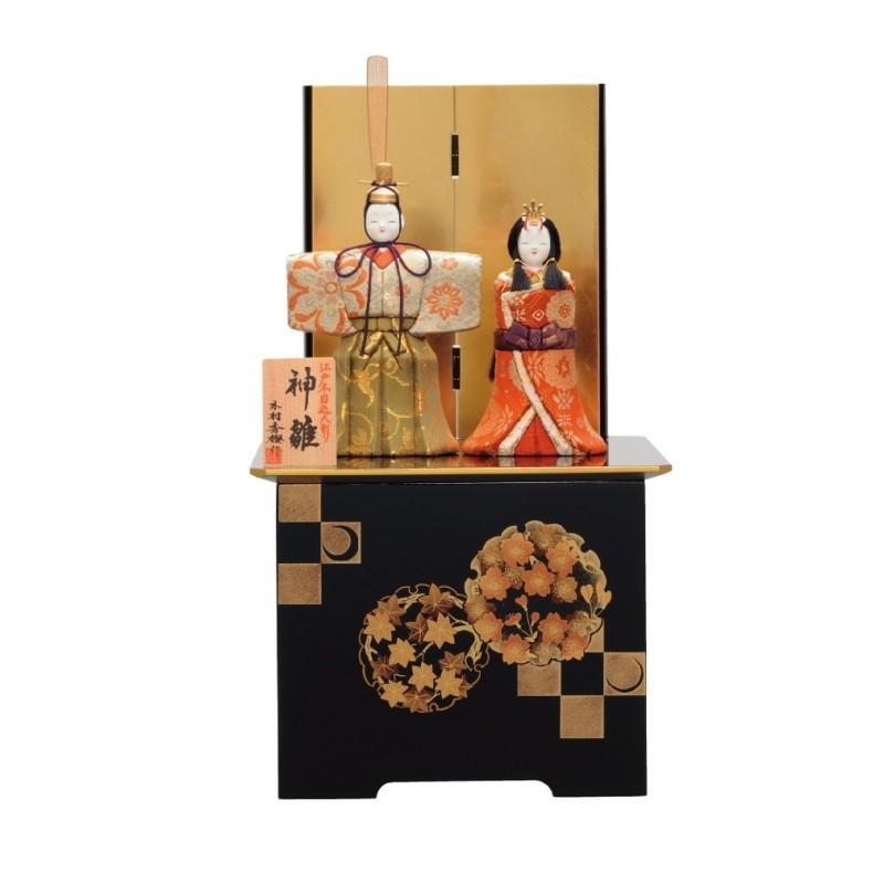 雛人形 一秀 江戸木目込み人形 親王 収納飾り 幅24cm i-4-a105