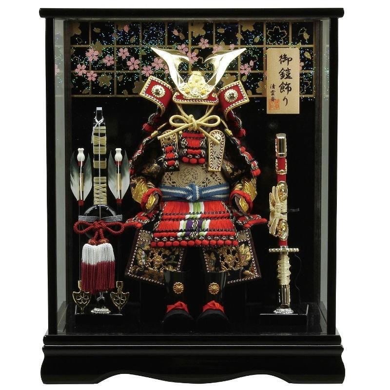 五月人形 鎧 ケース飾り幅39cm fz-108
