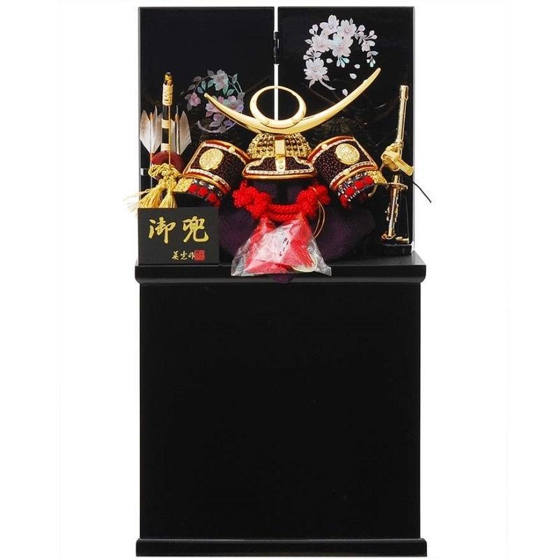五月人形 兜 収納飾り 上杉謙信 幅25cm sb-13-102