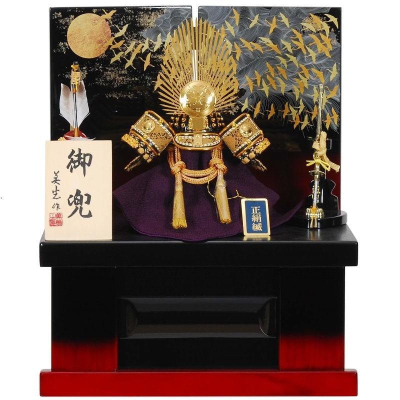 五月人形 兜 収納飾り 織田信長 幅38cm sb-15-123