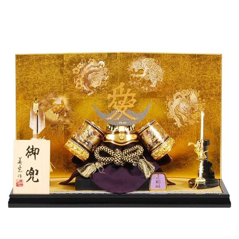 五月人形 兜 平飾り 直江兼続 幅50cm sb-7-61