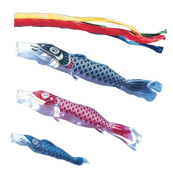 東旭 鯉のぼり 庭園用 ポール別売り 大型鯉 9m鯉3匹 昴 五色吹流し