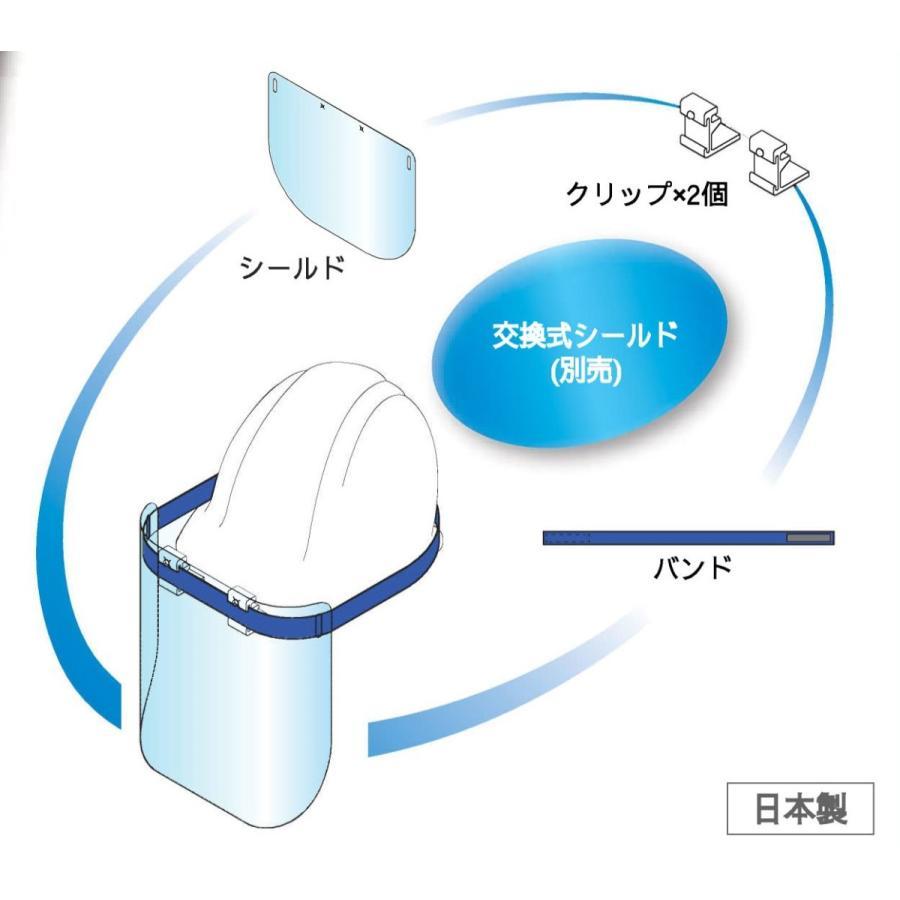 フェイスシールド(ヘルメットタイプ)新型コロナウィルス他感染症飛沫予防 sakurain
