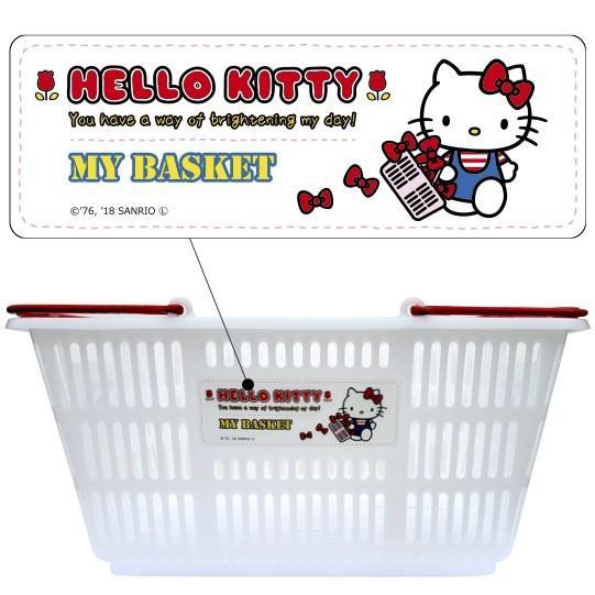 ハローキティ マイバスケット33L  景品 粗品 kttiy スーパー カゴ エコバッグ 買い物カゴ レジカゴ 日本製|sakuranboya|02