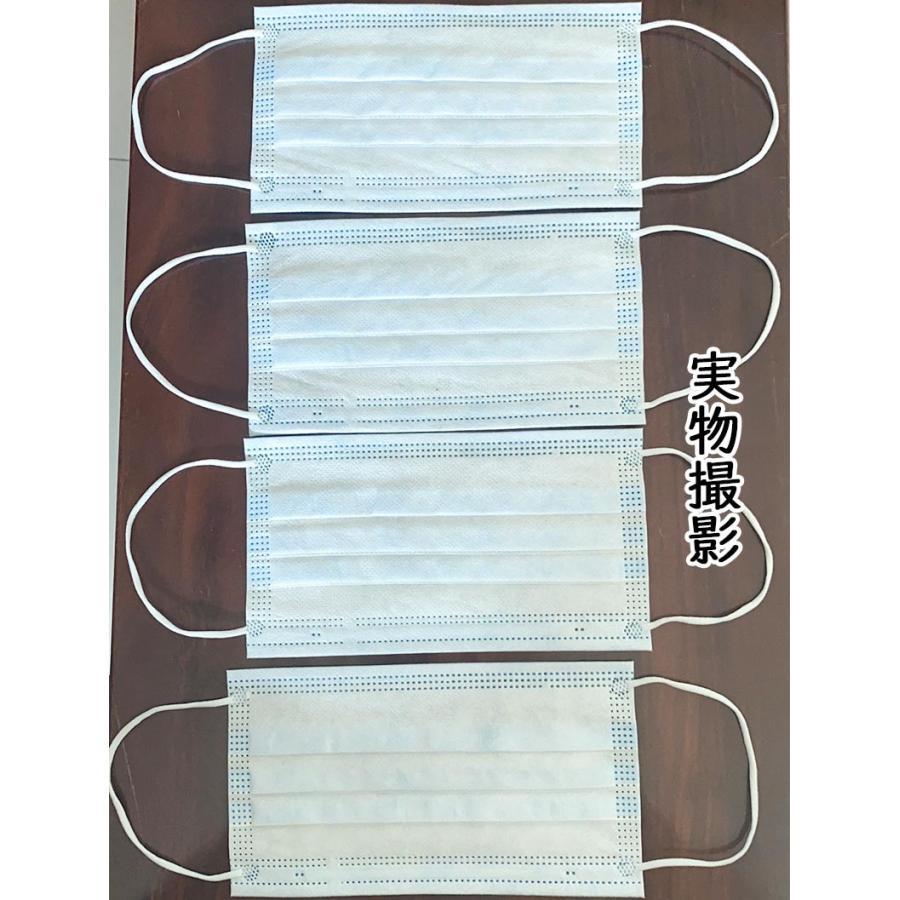 マスク  50枚 在庫あり 即納 国内発送 使い捨てマスク 立体設計 3段プリーツ加工 不織布 3層構造 高密度フィルター 送料無料  masuku005/ブルー|sakuranokoi|04