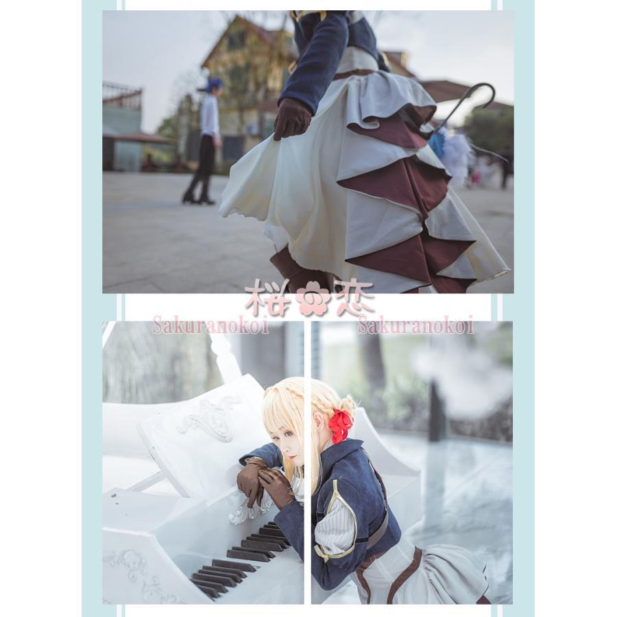 ヴァイオレット・エヴァーガーデン 風 自動手記人形 イベント コスチューム コスプレ衣装  変装 mj070|sakuranokoi|06