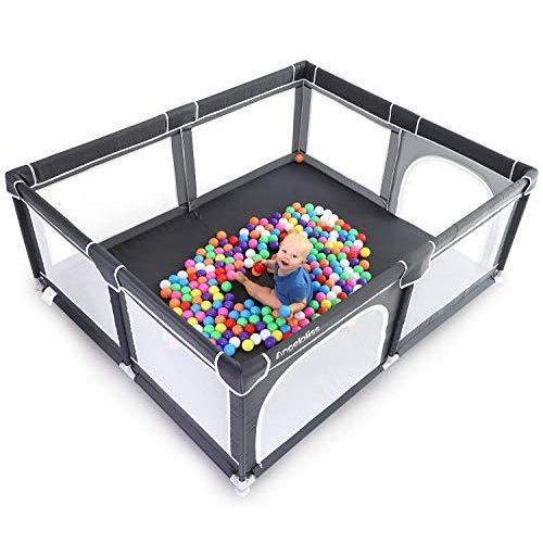 並行輸入品ANGELBLISS Base Baby Playpen, Extra Anti-Slip Large ...
