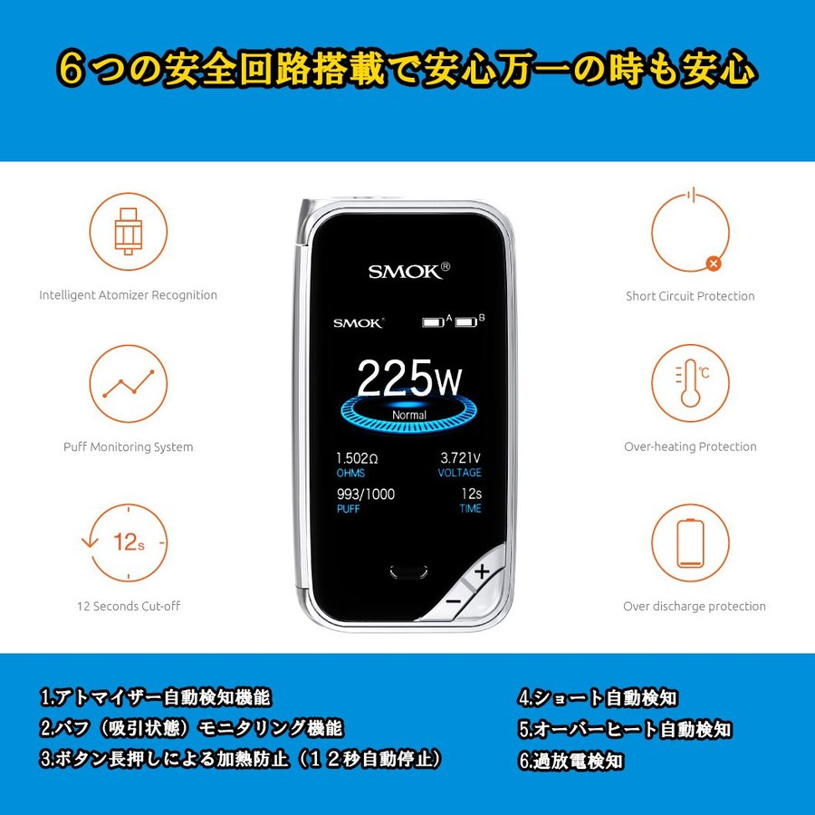 SMOK X-Priv KIT スモック 大画面液晶搭載ハイパワーMOD sakuravapor 05