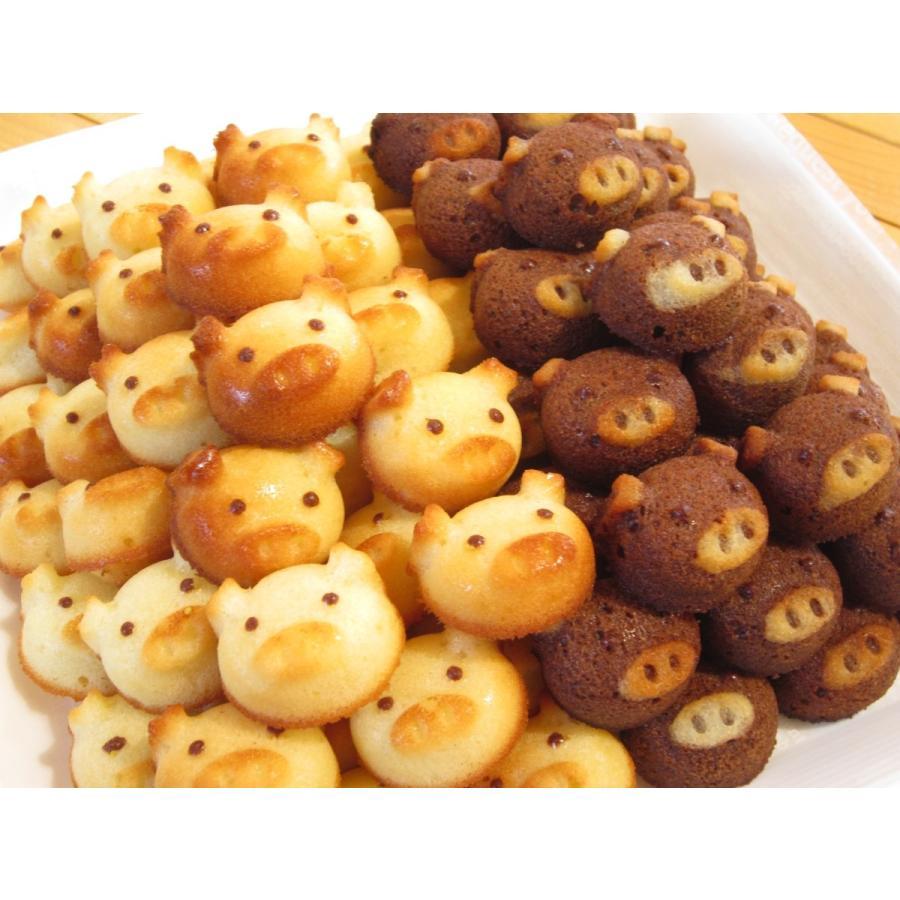 こぶたのフィナンシェ(12匹箱入り)*小さなお子様にも安心の無添加焼き菓子。いろんな顔のぶたがいます。レアキャラに会えるかな?|sakurayamakabo
