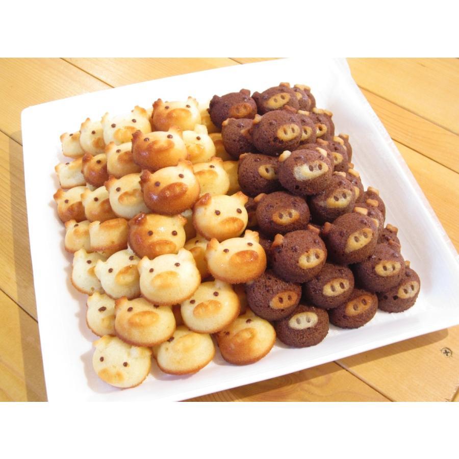 こぶたのフィナンシェ(12匹箱入り)*小さなお子様にも安心の無添加焼き菓子。いろんな顔のぶたがいます。レアキャラに会えるかな?|sakurayamakabo|04