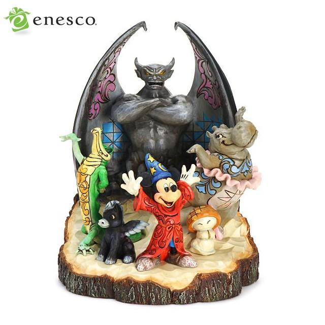 エネスコ ディズニートラディション ファンタジアミッキーマウス 木彫り調フィギュア ファンタジア ミッキー ギフト 出産祝い 男の子 女の子 おもちゃ 誕生日