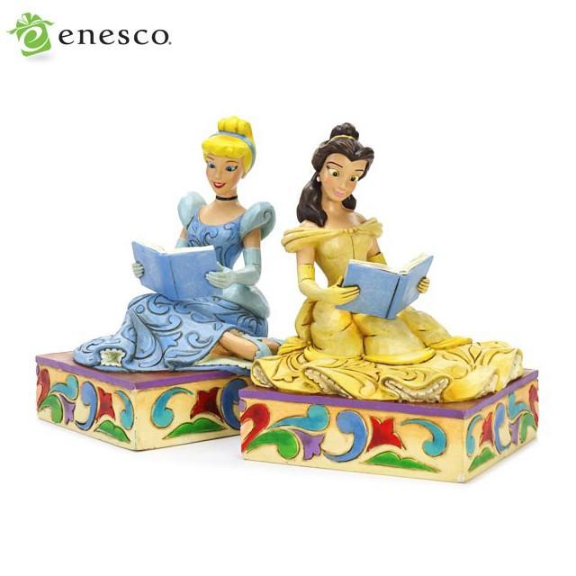 エネスコ ディズニートラディション ディズニーのお姫様のブックエンド 木彫り調フィギュア お姫様 ギフト 男の子 女の子 おもちゃ 誕生日 4歳 5歳 6歳 内祝い