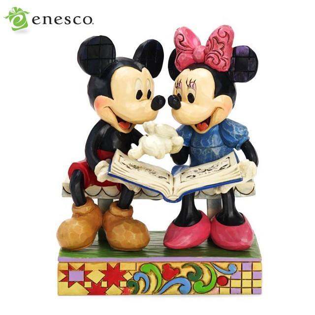 エネスコ ディズニートラディション ミッキーマウス&ミニーマウス 85周年 木彫り調フィギュア ギフト 出産祝い 男の子 女の子 おもちゃ 誕生日 4歳 5歳 6歳