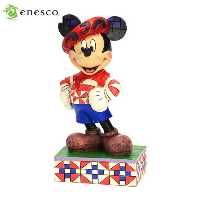 エネスコ ディズニートラディション ミッキーマウス 木彫り調フィギュア ギフト 出産祝い 男の子 女の子 おもちゃ 誕生日 1歳 2歳 3歳 4歳 5歳 6歳 男 内祝い
