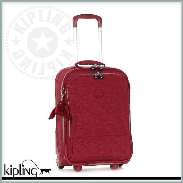 キプリング キャリーケース キャリーバッグ スーツケース 小型 機内持ち込みサイズ レディース メンズ レッド 旅行バッグ トラベルバッグ ソフト