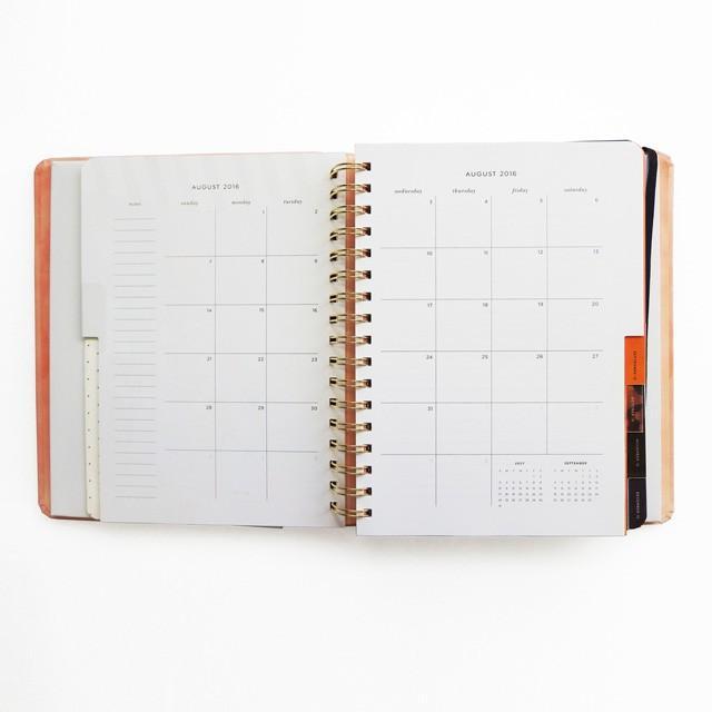 ケイトスペード 手帳 システム手帳 マンスリー&ウィークリータイプ 週間メモ スケジュール帳 日記帳 ラージサイズ 2016年8月から2017年12月 read my lips|salada-bowl|05
