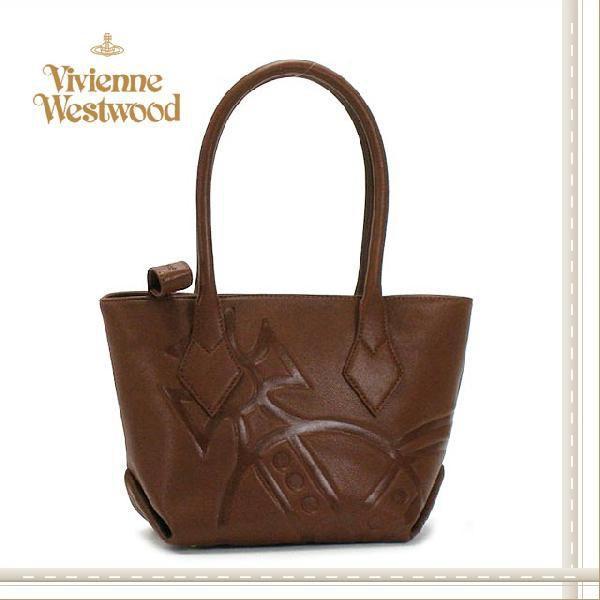 正規品販売! Vivienne Westwood ヴィヴィアンウエストウッド ブランド バッグ 型押し レディス Westwood GIANT Vivienne 型押し ハンドバッグ ブラウン, サガラムラ:015910d1 --- theroofdoctorisin.com