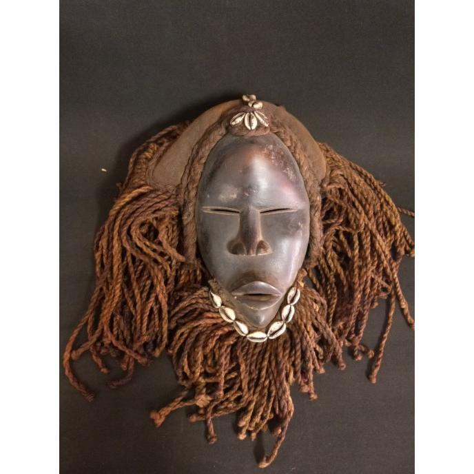 ダンマスク/アフリカ/アンティーク/マスク/木彫り/彫刻/木彫品/仮面/民族/ハンドメイド/翌日発送|salama-africa