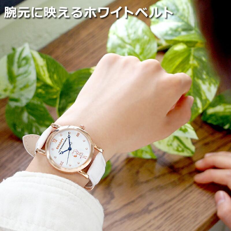 スヌーピー 腕時計 グッズ メンズ レディース ブランド スワロフスキー ウッドストック 革 レザー ピーナッツ 犬 鳥 ユニセックス salon-de-kobe 10