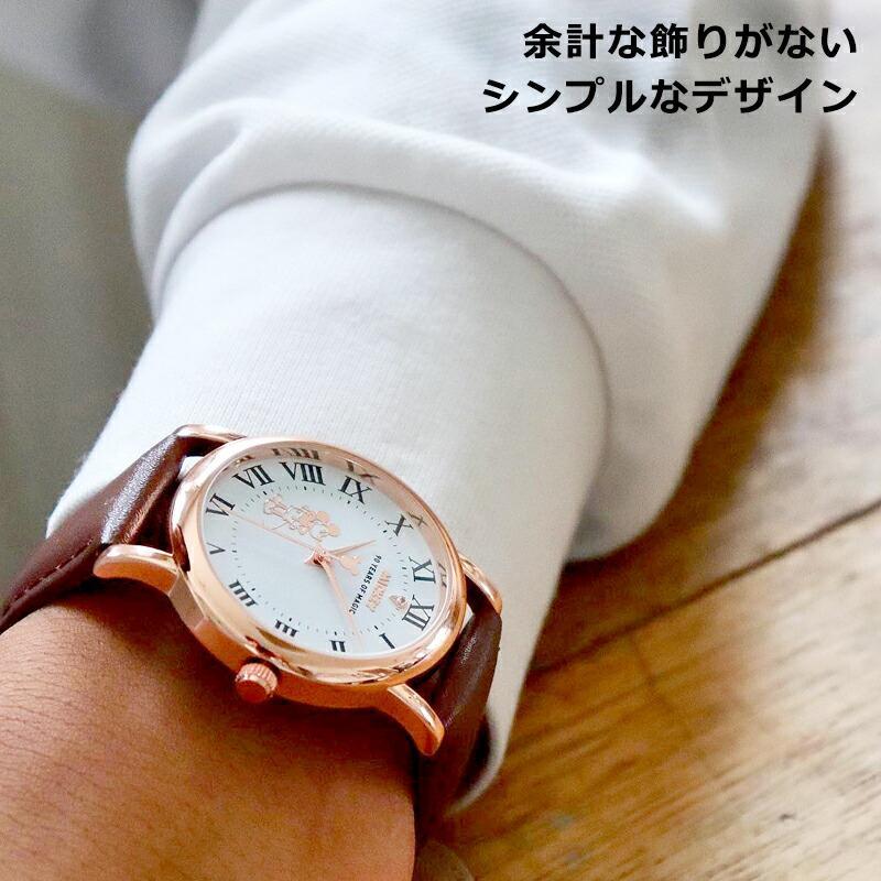 【決算SALE】【半額以下!74%OFF】ディズニー グッズ ミッキーマウス ミッキー 腕時計 メンズ レディース ユニセックス 本革 ベルト 革 新作 ミッキー時計 salon-de-kobe 10