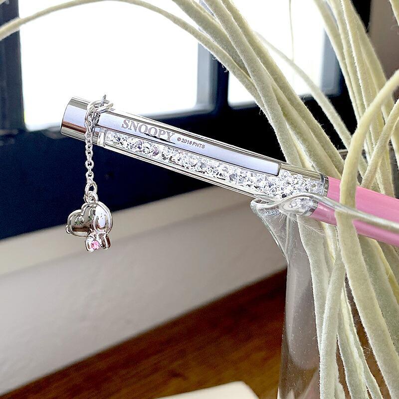 スヌーピー グッズ スワロフスキー ボールペン 名入れ 不可 ペン 筆記用具 チャーム 18金 加工|salon-de-kobe|06