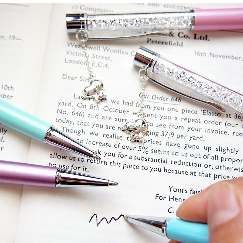 スヌーピー グッズ スワロフスキー ボールペン 名入れ 不可 ペン 筆記用具 チャーム 18金 加工|salon-de-kobe|07