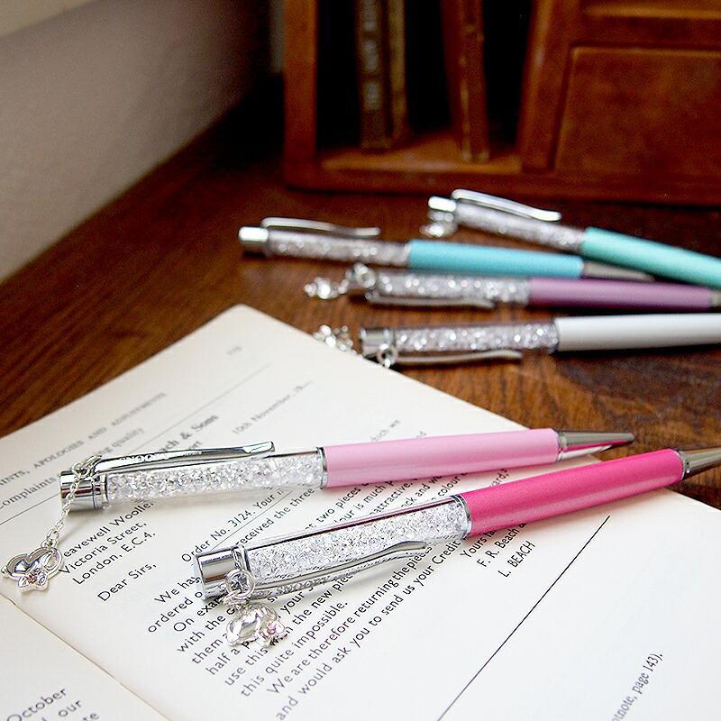 スヌーピー グッズ スワロフスキー ボールペン 名入れ 不可 ペン 筆記用具 チャーム 18金 加工|salon-de-kobe|09