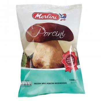 送料無料 メルリーニ 冷凍ポルチーニ ホール 1000g 10袋セット 24 代引き·同梱不可