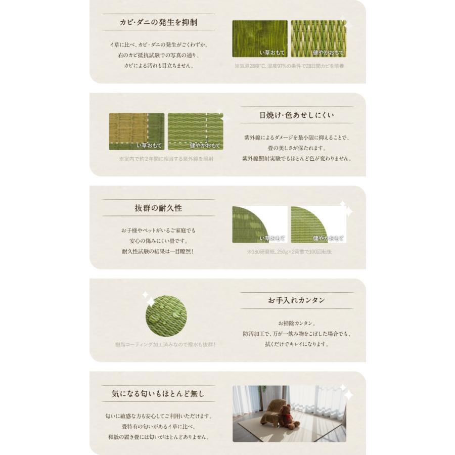 【日本製】高級和紙置き畳 清流 60〜90cmまでオーダー可能|samurai-carpet|09