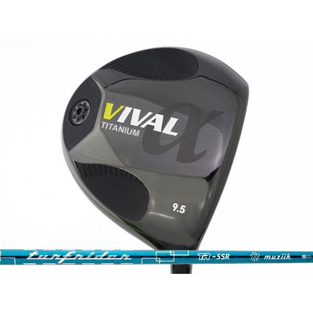【国内在庫】 日幸物産 VIVAL α (ヴィバル アルファ) ドライバー TURFRIDER TR-5シャフト, ストリーム 38e241df