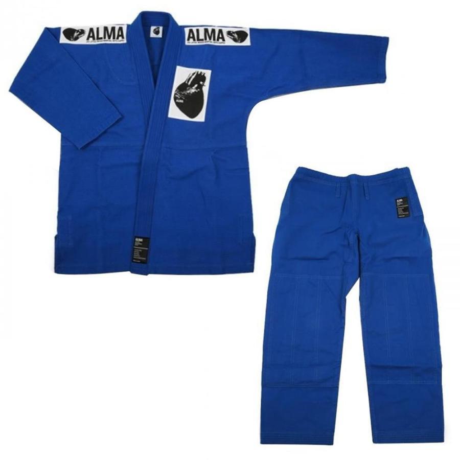 ALMA アルマ レギュラーキモノ 国産柔術衣 M00 青 上下 JU1-M00-BU 代引不可