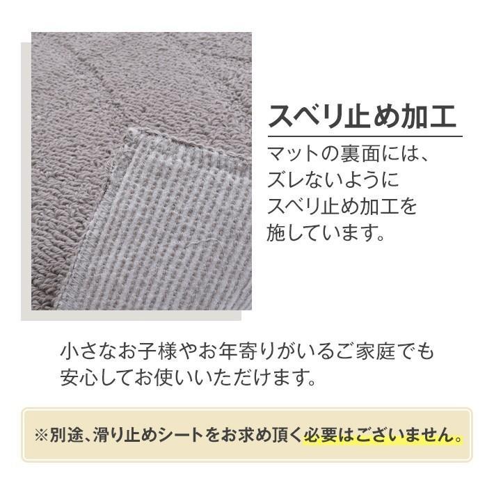 トイレタリー 4点セット 「コットンリッジ」綿100%  日本製 洗える ( グレー / アイボリー ) 55×60 san-luna 07