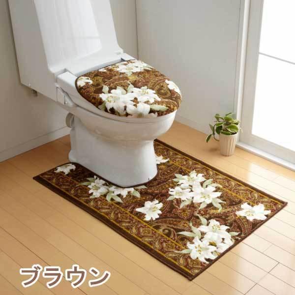 トイレマット 65cm×100cm ユリ柄 日本製 san-luna 06