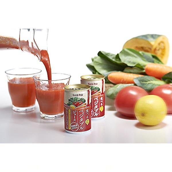 ゴールドパック 食べる ベジタブルジュース 160g缶×20本入 Gold-Pak|sanchoku-support|02