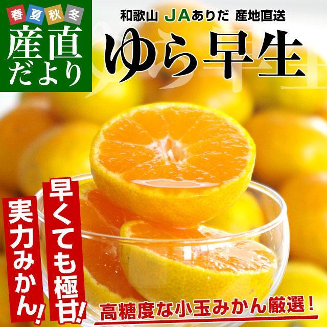 和歌山県より産地直送 JAありだ ゆら早生みかん 5キロ SからSSサイズ 蜜柑 ミカン 送料無料 sanchokudayori