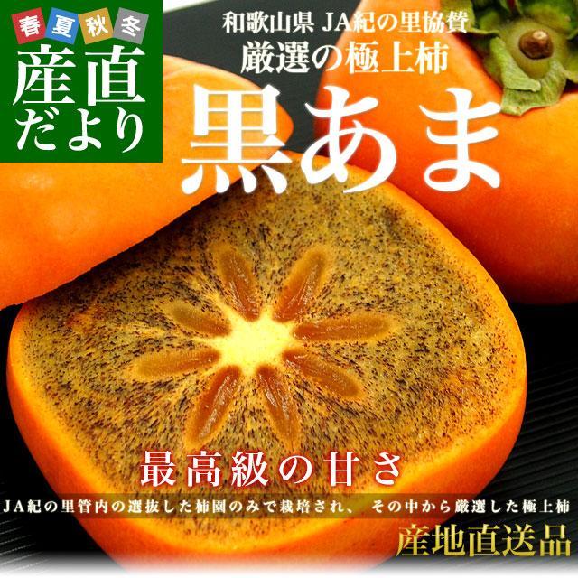 送料無料 和歌山県より産地直送 JA紀の里 黒あま 2キロ(8玉から9玉) カキ かき 柿|sanchokudayori