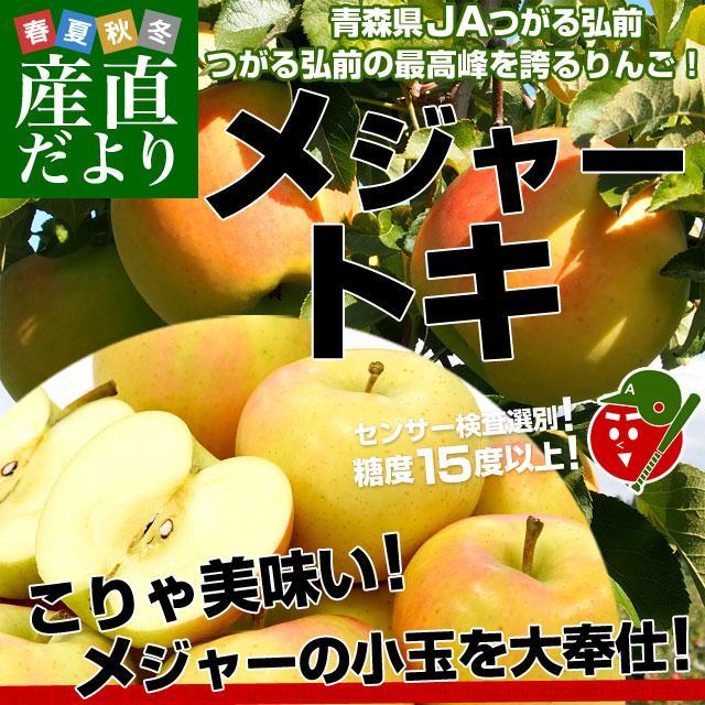 青森県より産地直送 JAつがる弘前 弘前のりんご メジャー トキ 3キロ (小玉 13玉入り) 送料無料 sanchokudayori
