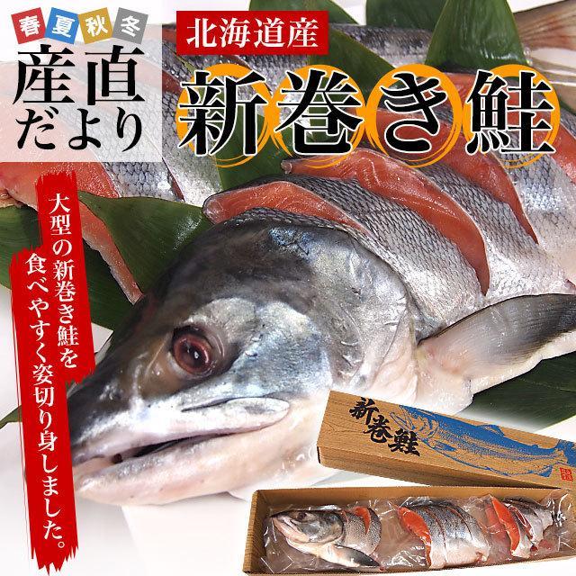 北海道産 姿切り身 大型の鮭 まるごと1尾分 3キロ 北海道サケ シャケ 秋鮭|sanchokudayori