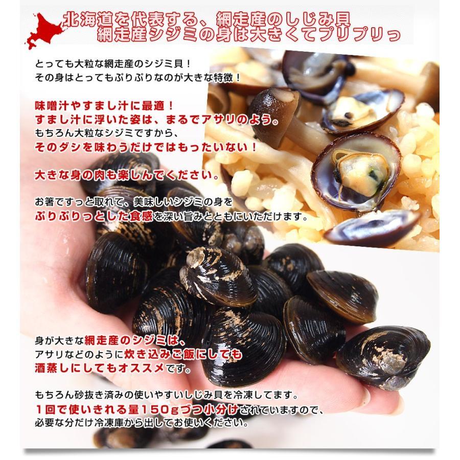 北海道から発送 北海道網走湖産 しじみ貝 5パックセット (約150g×5P)|sanchokudayori|03