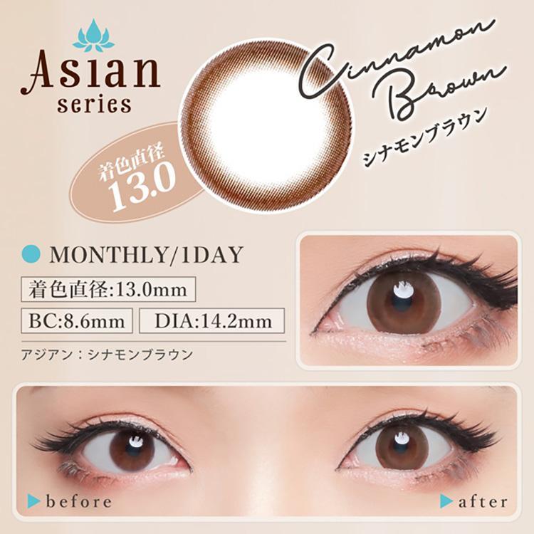 カラコン アイトゥアイ アジアン eye to eye Asian 1ヵ月 度なし 度あり 14.0mm 14.2mm 杉山佳那恵 1箱1枚入り×4箱|sancity-contact|05