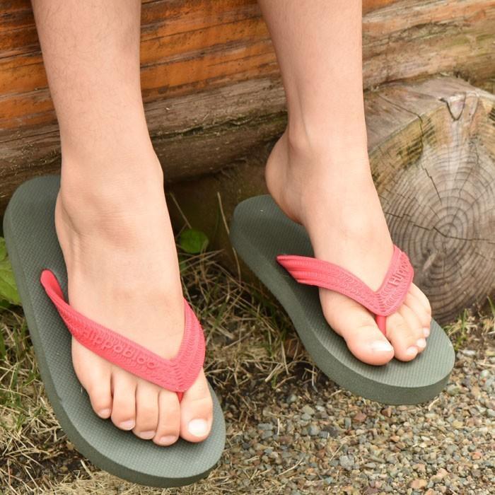 ビーチサンダル マシュマロのように柔らかい天然ゴム 植物由来 ヒッポブルー(hippo bloo) キッズ|sandals|02
