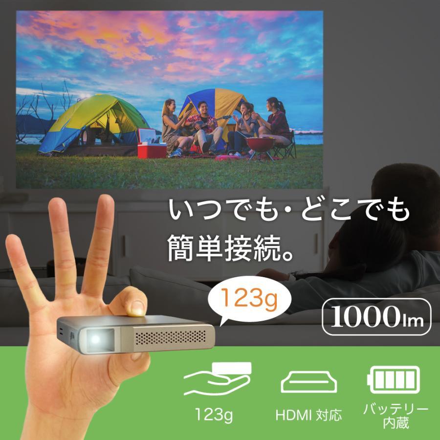 プロジェクター 小型 ミニ 本体 家庭用 ビジネス ミニプロジェクター モバイル 安い 軽量 超小型 1000ルーメン 高画質 スマホ iPhone HDMI USB FN-02 FunLogy sandlot-books 02