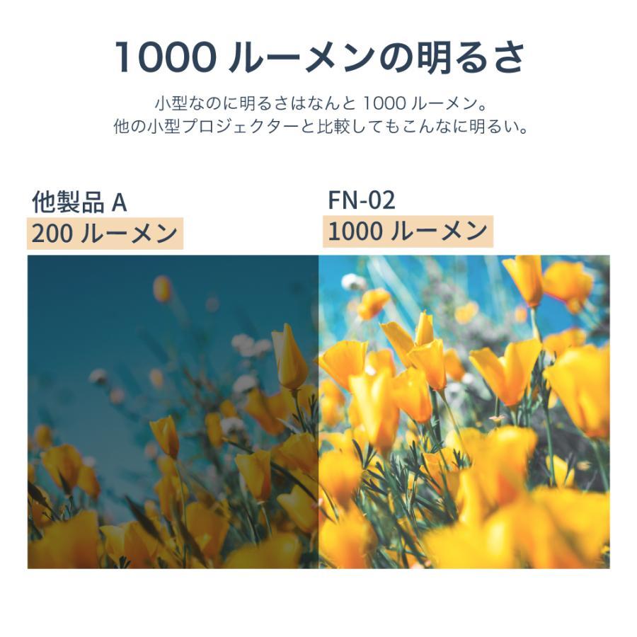 プロジェクター 小型 ミニ 本体 家庭用 ビジネス ミニプロジェクター モバイル 安い 軽量 超小型 1000ルーメン 高画質 スマホ iPhone HDMI USB FN-02 FunLogy sandlot-books 13