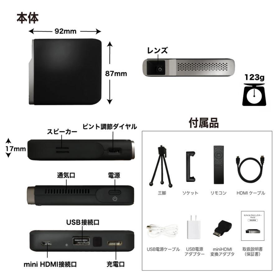 プロジェクター 小型 ミニ 本体 家庭用 ビジネス ミニプロジェクター モバイル 安い 軽量 超小型 1000ルーメン 高画質 スマホ iPhone HDMI USB FN-02 FunLogy sandlot-books 21