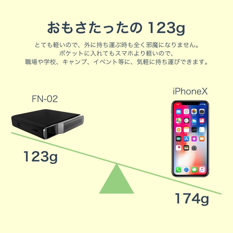 プロジェクター 小型 ミニ 本体 家庭用 ビジネス ミニプロジェクター モバイル 安い 軽量 超小型 1000ルーメン 高画質 スマホ iPhone HDMI USB FN-02 FunLogy sandlot-books 10