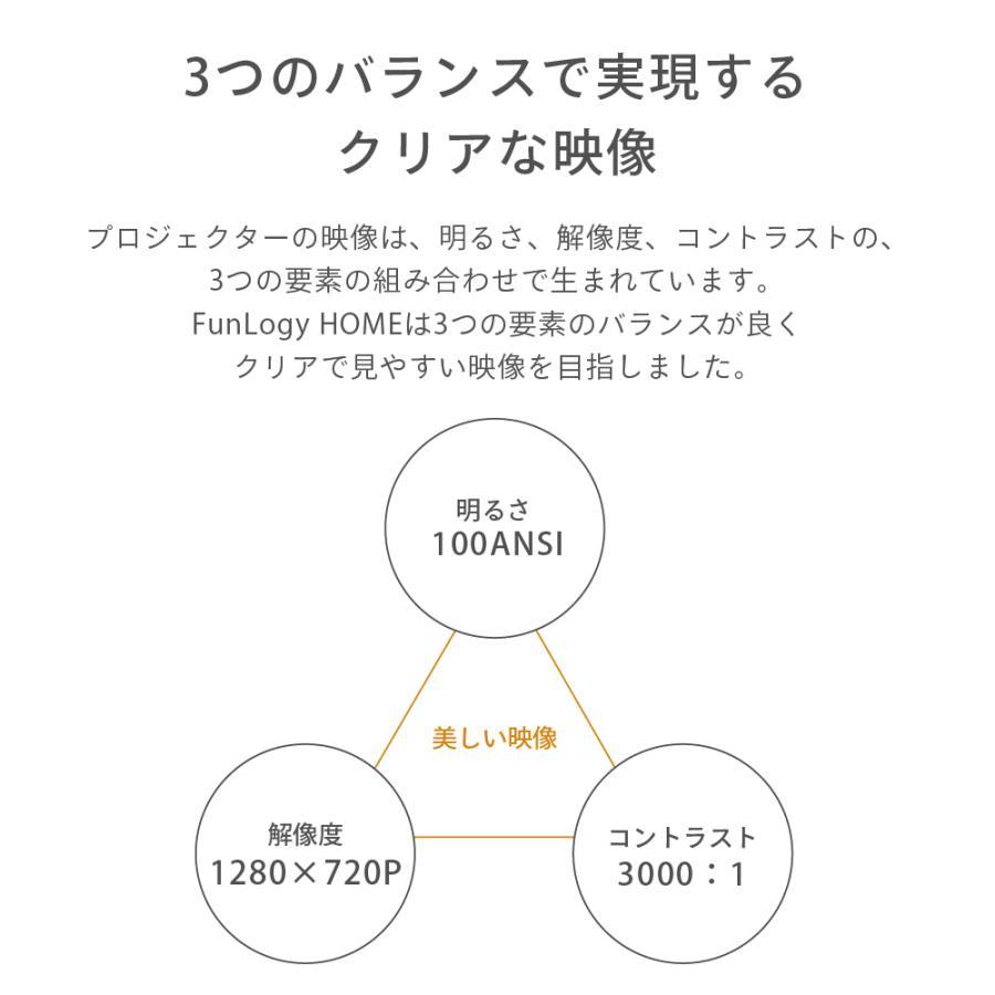 プロジェクター 小型 本体 家庭用 ビジネス モバイル 安い 高画質 3300ルーメン 自動台形補正 スマホ iPhone PC HDMI FunLogy HOME|sandlot-books|12