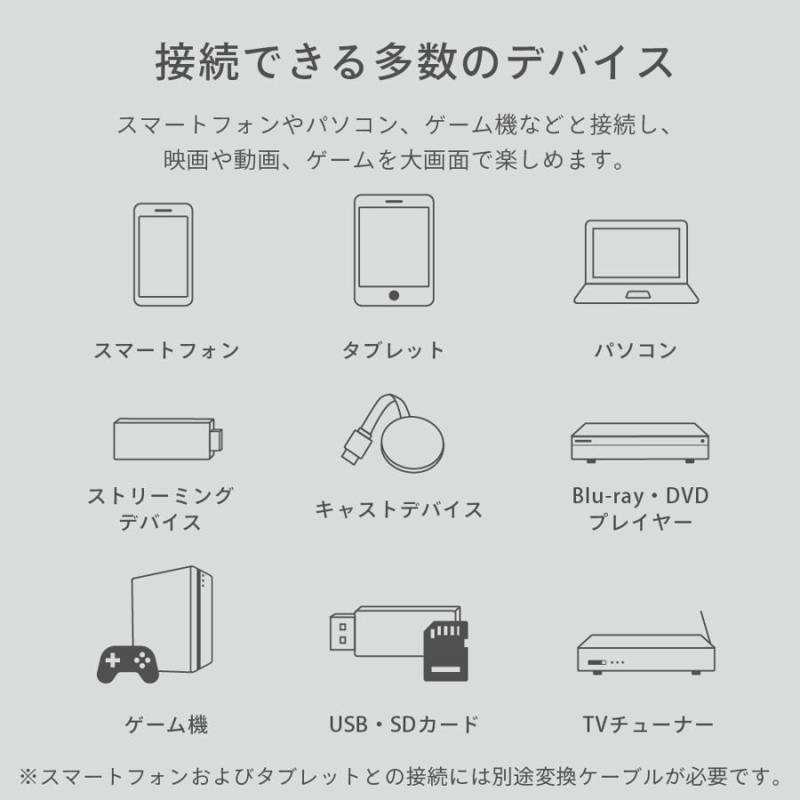 プロジェクター 小型 本体 家庭用 ビジネス モバイル 安い 高画質 3300ルーメン 自動台形補正 スマホ iPhone PC HDMI FunLogy HOME|sandlot-books|05